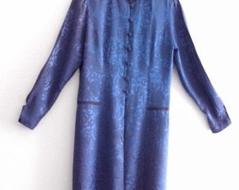 Vintage Royal Blue Damask Jacket Dress