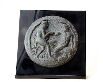 Hercules and Nymph Bronze Sculpture Relief, Metal Art Sculpture, Museum Quality Art, Greek Mythology, Ancient Greek Myths, Collectible Art