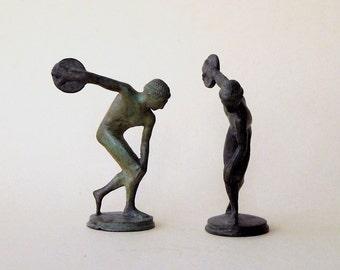 Discus Thrower Sculpture, Bronze Greek Athlete Statue, Ancient Greece Olympic Games, Discobolus, Metal Sculpture, Art Decor, Museum Replica