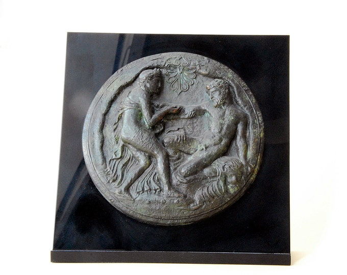Featured listing image: Hercules and Nymph - Ancient Greek Mirror Cover