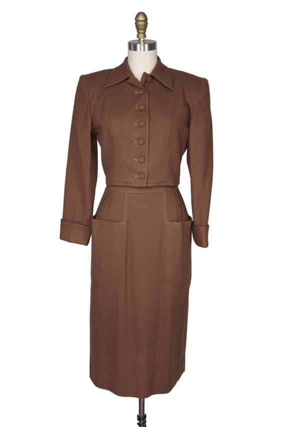 1940s skirt suit 40s pencil skirt and jacket by dnjvintage