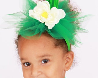 Ready to Ship: Berry Beauty Headband - Green - Strawberry Stem Costume Accessory - Fits toddler to adult - Cutie Patootie Designz