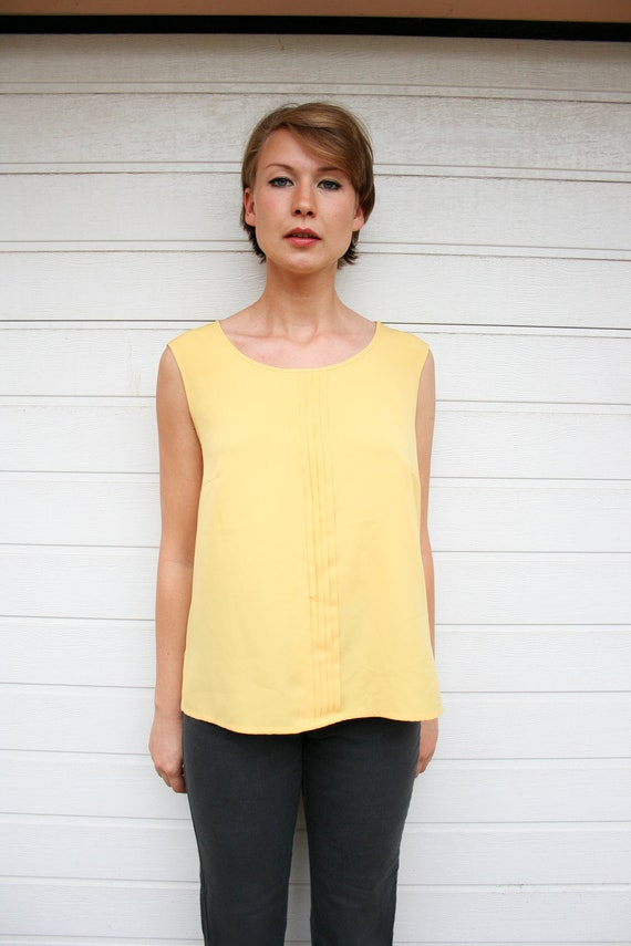 Vintage 80s Yellow Loose Fit Tank Top