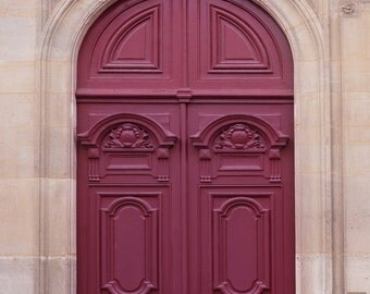 Paris Door Photograph - Maroon Door Parisian Architecture Fine Art Photo Home Decor & Paris Photograph Navy Blue Door Parisian Travel Fine Art Pezcame.Com
