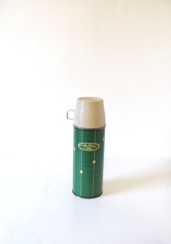 Vintage Holiday Thermos