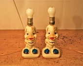 Baby Duck Lamps, Pair, Cute As a Button and Rewired