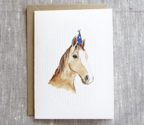 Horse Card. Horse Birthday Card. Equestrian Birthday Card