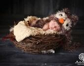 Baby Boy Hat TOO CUTE Newborn Baby Boy Crochet Fuzzy Owl Hat  Owl Hat 0 3 6 9 months