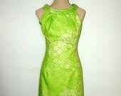 Vintage 1960s mini dress. Cresta Couture. Small.