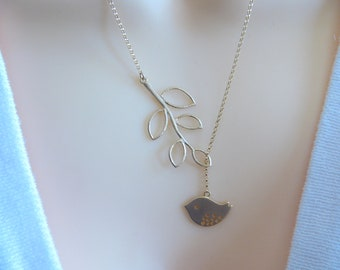 Gold Bird Necklace . Gold Bird Lariat Necklace . Jewelry Necklace, Lariat jewelry, Gold necklace, Mothers necklace