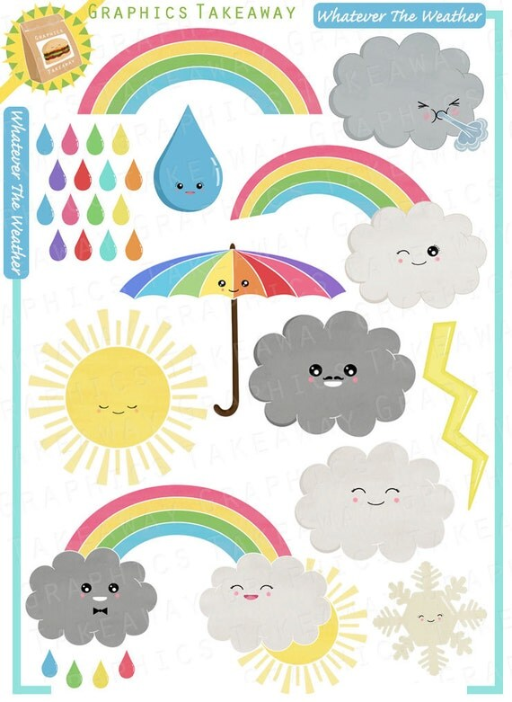 Whatever The Weather Clipart/ Digital Collage by ...
