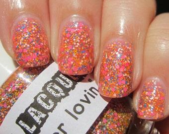 Summer Lovin :  Custom-Blended Glitter Nail Polish / Lacquer/ indie polish