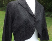 Vintage Black Lace Bolero Jacket - Mad Men Era, 50s/60s - Mint Condition
