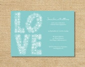 Printable LOVE Engagement Party Invitation