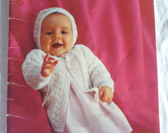 Nursery Styles 3-12 months - Patons by Beehive to knit and crochet 111- bonnet, booties, bootees, cardigan : 1283