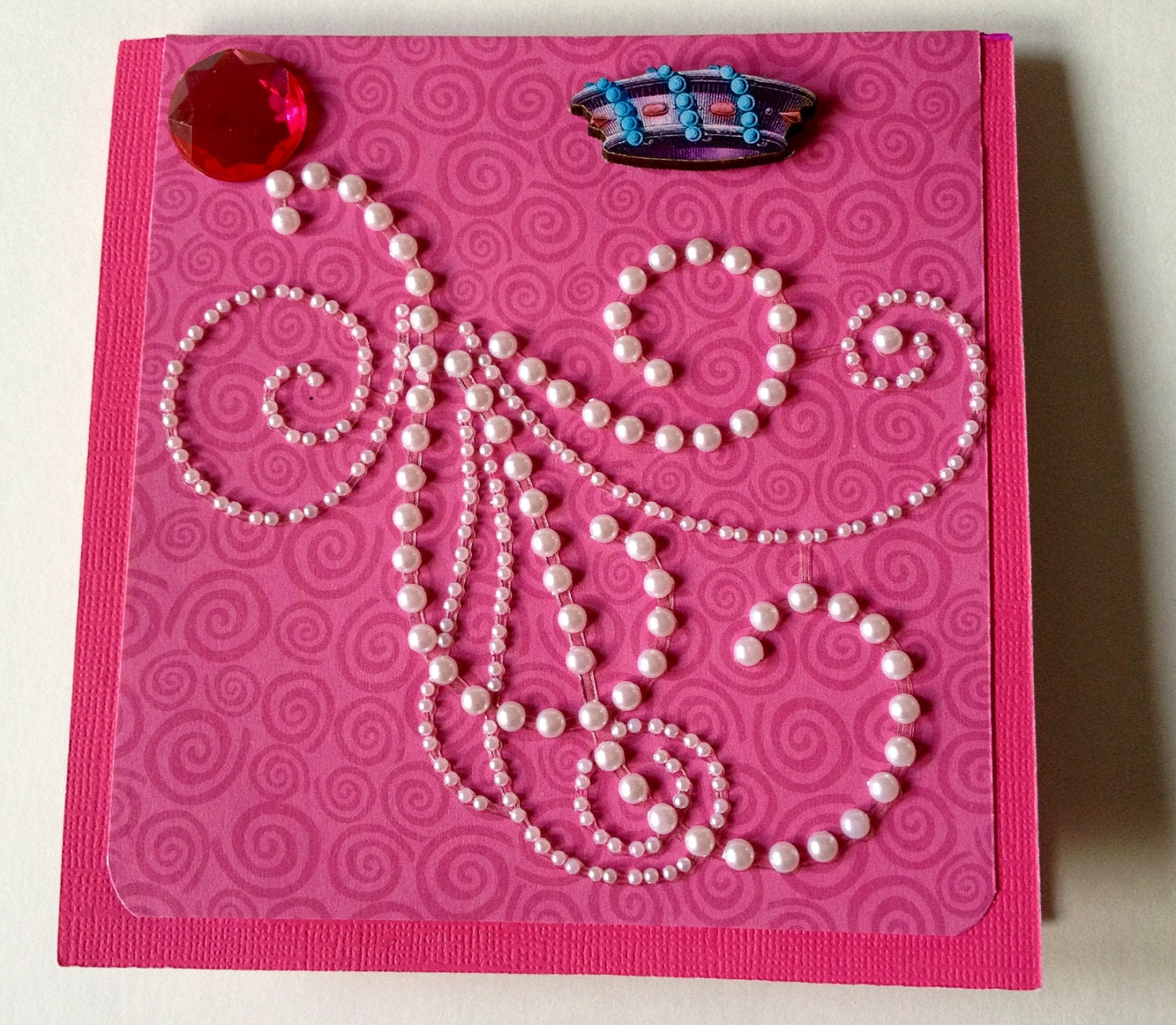 3d handmade birthday card pearls and whirls for 3d christmas cards to make at home