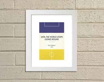 """Book Clubs: """"Leeds"""" A4 Football Print in blue and white."""