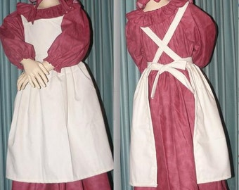 Civil War Reenactment Little Girls Prairie Dress Sizes Colors Available 4 6 6+ 7 8