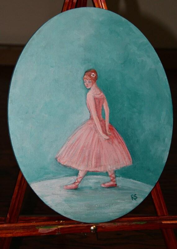 The Petite Ballerina - Original Painting on Canvas