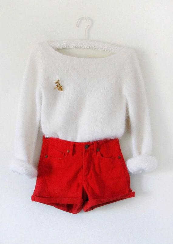Open Back Angora- Rabbit Hair  Sweater M