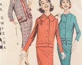 1950s Butterick 8712 Boxy Suit Jacket Vintage Sewing Pattern Bust 32