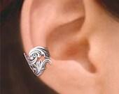 Dancing Feather ear cuff Sterling Silver earrings Feather jewelry Feather earrings Sterling silver ear cuff Small clip men & women C-069