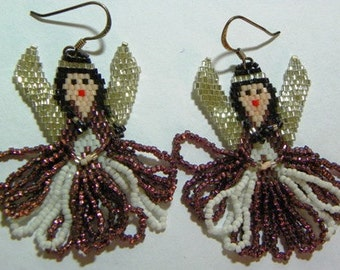 Beaded Angel Earrings Three Sets (710-V)