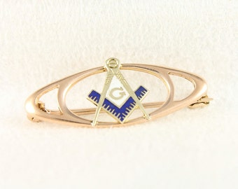 Masonic 10K Pin - Vintage Gold