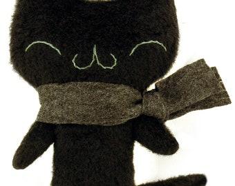 Happy black meu kitty