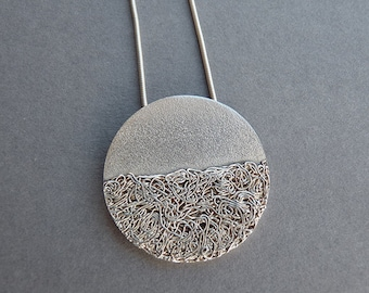 Silver pendant. Sterling silver. Fine silver. Silver necklace. Silver jewellery. Handmade. MADE TO ORDER.