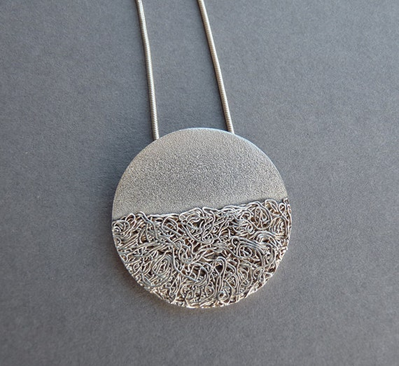 textured silver jewellery