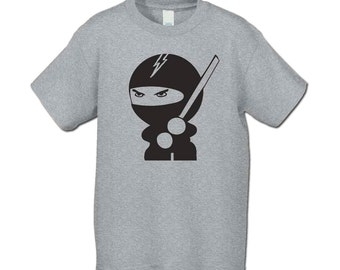 Back to School - The Ninja T-Shirt - For Kung Fu Lovin Peeps( Ninja  1250 Black Ink ) Ninja Party
