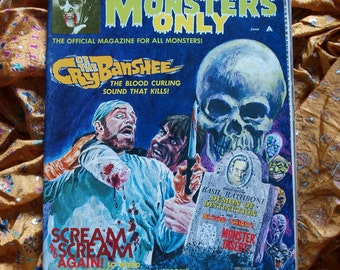 For Monsters Only Magazine 1972 Banshees Blood Thirst Vampire Yorga Horror Sci Fi Gray Morrow art