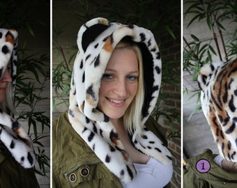 Tiger/Leopard Hybrid Hood - Adult, Teen - A winter, Christmas, nerdy, geekery gift!