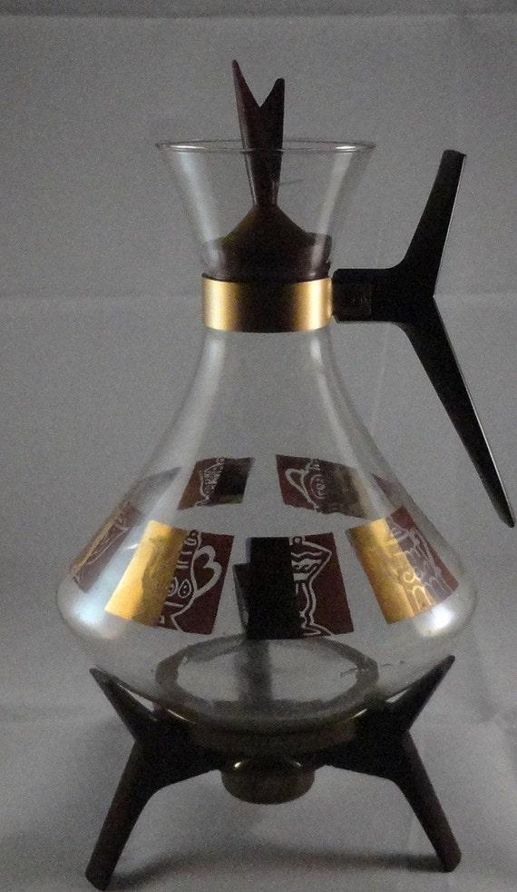 Modern Glass Coffee Maker : Carafe Coffee Pot Glass Mid Century Modern by CherryValleyVintage