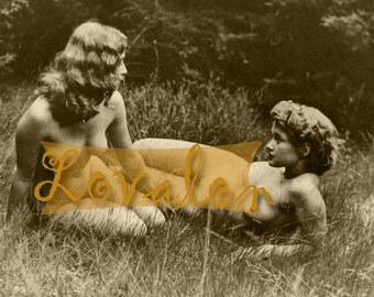 MATURE... Nature Girls... Deluxe Erotic Art Print... Vintage Nude Photo... Available In Various Sizes