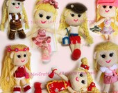 Lily and Outfit Series1 (7 styles): Changeable Clothes Crochet Doll and 7 styles Outfits Pattern ( PDF only )