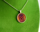 Mexican Wrestling Pendant Necklace -  Luchador - Lucha Libre -  Kitsch