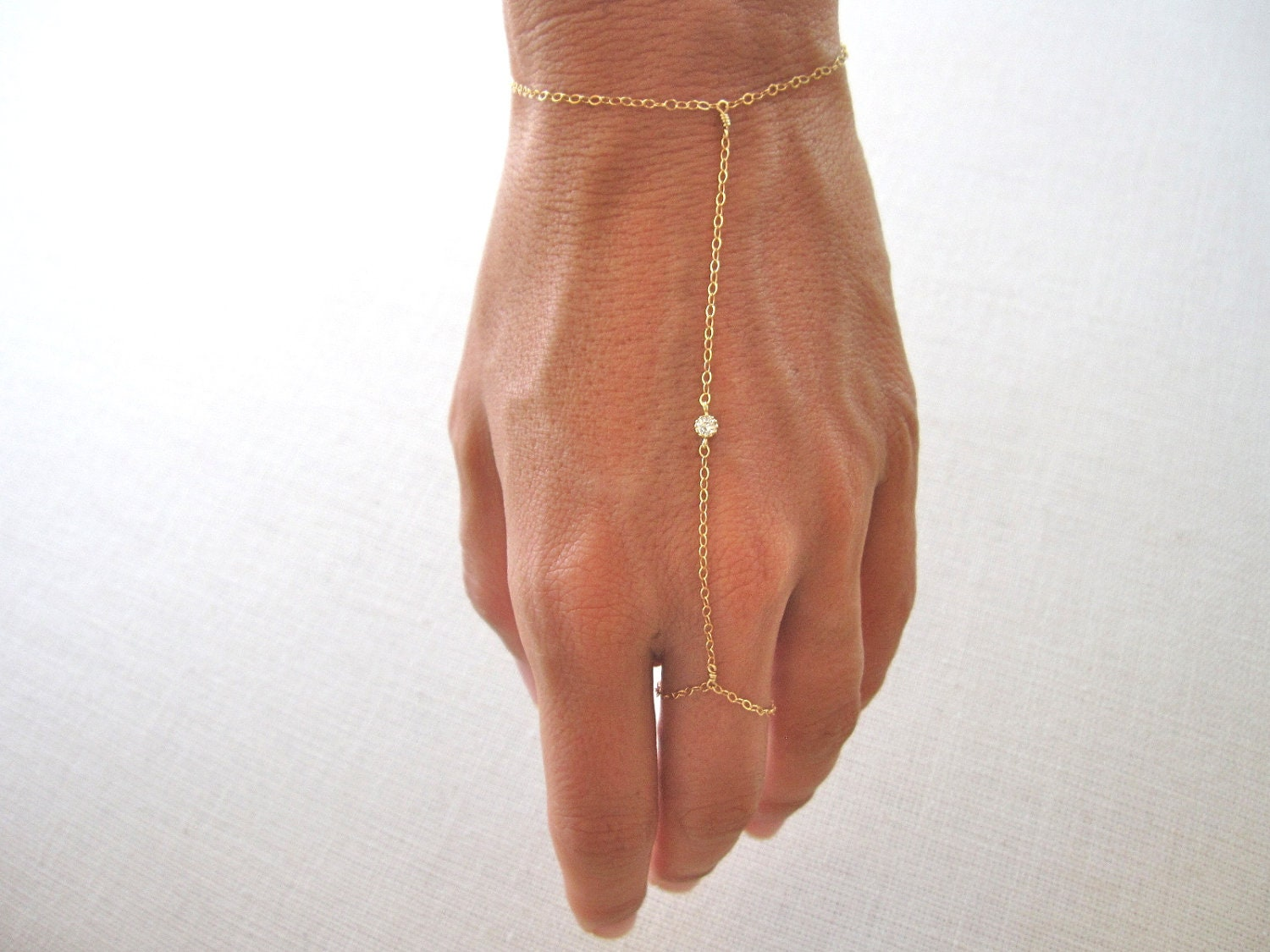 Slave Bracelet Hand Chain Delicate 14k Gold Filled Chain