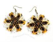 Macrame Mandala Earrings for a Bohemian Autumn