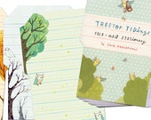 OWL STATIONERY (letter set) by boygirlparty - fold and mail stationery letter paper pad