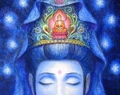 Kuan Yin Buddha Art spiritual meditation Buddhist Goddess Zen print of painting by Sue Halstenberg
