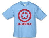 Big Brother Shirts - Superhero Sibling TShirts - Personalized T-Shirts - Pregnancy Announcements - Little Brother, Sister, Big Sister Shirt