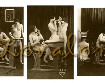 MATURE... Sexy School... Deluxe Erotic Art Print... Vintage Nude Photo... Available In Various Sizes