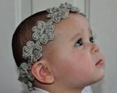 Crochet Pattern PDF - Headband / Bracelet - Flower Garland Headband - Newborn to Adult Sizes - Bridal Accessory - Photo Prop