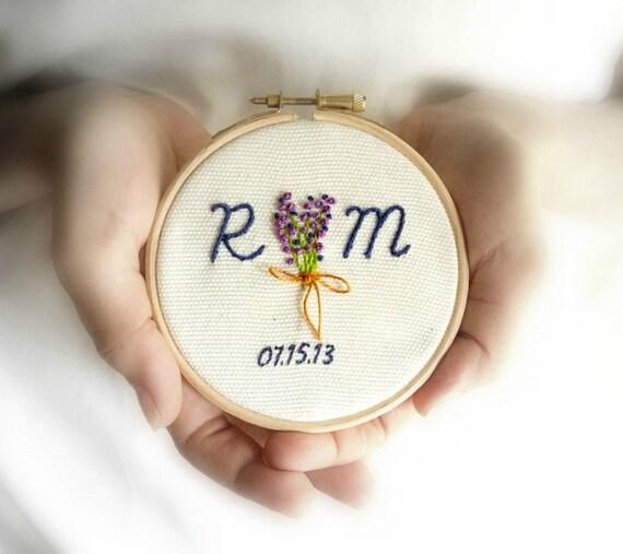 Personalized Wedding Gift Custom Wedding Embroidery Initials
