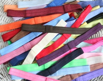 20 Headbands -  GRAB BAG of Colors - 5/8 Elastic Headbands Great for Cheer Sports Teams - All Sizes - Speedy Delivery
