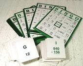 Vintage Basic Math Skills Bingo Lakeshore Lifeskills Complete Set - 36 Huge Heavy Duty Bingo Cards - Excellent Condition Teaching Collection
