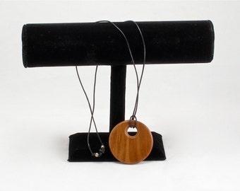 Walnut Pendant on Leather Cord