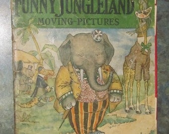 Rare 1909 Kellogg's Corn Flakes Jungleland Moving Pictures Book